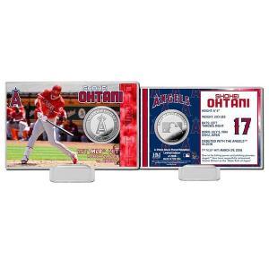 お取り寄せ MLB エンゼルス 大谷翔平 初安打記念 シルバーコイン カード The Highland Mint