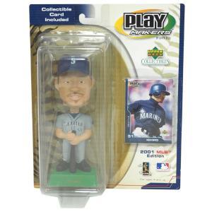 MLB マリナーズ イチロー ボブルヘッド/フィギュア 2001 アッパーデック/Upper Deck ロード レアアイテム