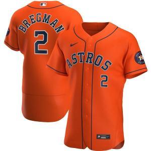 MLB アレックス・ブレグマン アストロズ ユニフォーム/ジャージ オルタネート 2020 オーセンティック ナイキ/Nike オレンジ|mlbshop