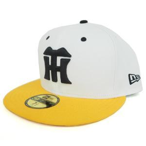 阪神タイガース グッズ 5950 カスタム キャップ/帽子 ホワイト ニューエラ/New Era ホワイト/ゴールド|mlbshop
