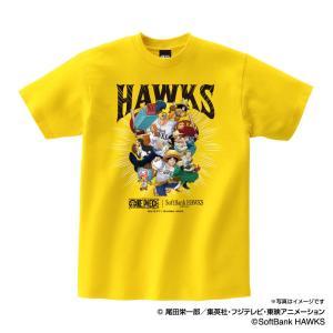 福岡ソフトバンクホークス グッズ Tシャツ ワンピース×ホークス Tシャツ (麦わらの一味) Spa...