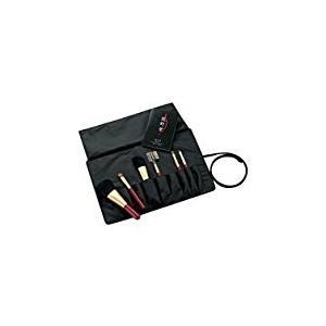 熊野化粧筆セット 筆の心 ブラシ専用ケース付き Kfi-R156|mlf