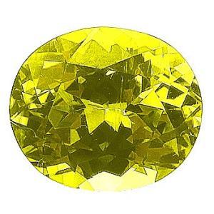 11756 イエロークリソベリル 6.35ct 高彩度のグリーニシュイエロー 強テリ! 【日独鑑別付】 : 瑞浪鉱物展示館 【送料無料】|mm-museum