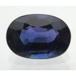 12157 ブルーサファイア ルース 0.92ct 高彩度 紫を帯びたブルー タンザニア産 : 瑞浪鉱物展示館 【送料無料】 mm-museum
