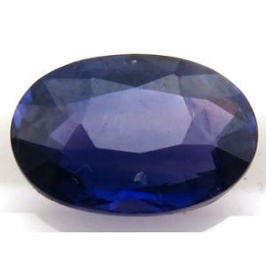 12221 ブルーサファイア ルース 1.768ct 高彩度 紫を帯びたブルー スリランカ産 : 瑞浪鉱物展示館 【送料無料】 mm-museum