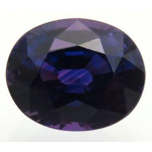 13180 カラーチェンジ サファイア 1.27ct Dライトで紫青 白熱灯で赤紫 タンザニア産 : 瑞浪鉱物展示館 【送料無料】 mm-museum