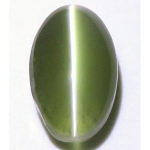 13811 グリーンクリソベリルキャッツアイ ルース 2.52ct 強いキャッツアイ効果 黄緑 半透明 インド産 : 瑞浪鉱物展示館 【送料無料】|mm-museum