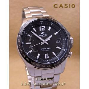 【7年保証】送料無料!カシオ メンズ 男性用ソーラー電波腕時計 EDIFICE!スマートアクセスを搭載した 3針アナログモデル【EQW-A100DB-1A2JF】(国内正規品)|mmco