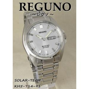 【7年保証】シチズン レグノ メンズ 男性用腕時計  ソーラーテック腕時計 【KH5-714-91】(国内正規品)|mmco