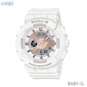 レディース 腕時計 7年保証 カシオ BABY-G デジタル×アナログ BA-110RG-7AJF 正規品|mmco