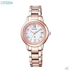 レディース腕時計 7年保証 シチズン クロスシー ソーラー電波 EC1147-52W 正規品 限定モデル サクラピンク ハッピーフライト ティタニアライン|mmco