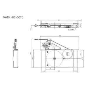 吊り戸用内蔵型引き戸クローザーUC-0070|mmi|04