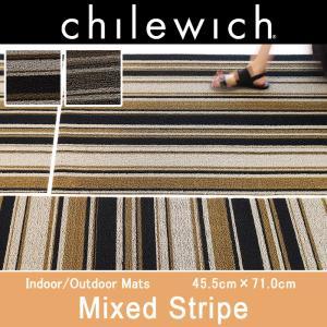 chilewich フロアマット Shag Mixed Stripe  ミックスドストライプ ドアマット 玄関マット フロアマット【正規輸入品】【チルウィッチ】 mminterior