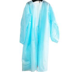 アイソレーションガウン 150枚入り 1回使いきり ブルー フリーサイズ 男女兼用 防護服 医療 ひも止め式 個人防護具 PPE 不織布 ガウン エプロン mmmcosmetic