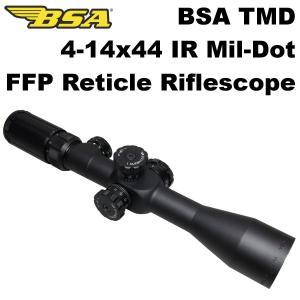 BSA TMD 4-14x44 IR ライフルスコープ FFP ミルドット レティクル 443-651 スナイパー イルミネーション