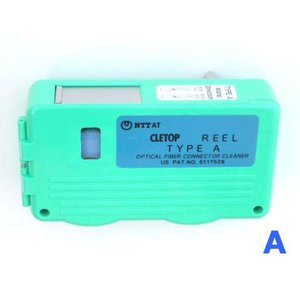 NTT-AT 光コネクタクリーナ CLETOP(クレトップ) リールタイプ Aタイプ 14100501 (レバータイプ、リール交換方式)|mmq