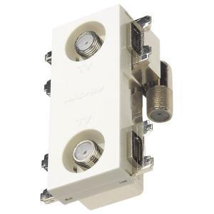 マスプロ 4K・8K衛星放送(3224MHz)対応 直列ユニット 2DWKR-B (2端子型、端末用ダミー付)|mmq