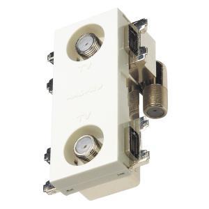 マスプロ 4K・8K衛星放送(3224MHz)対応 直列ユニット 2DWKR-SW-B (2端子型、端末用ダミー付) (上り帯域カットフィルタースイッチ付)|mmq