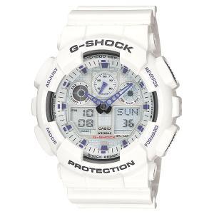 カシオ【G-SHOCK】デジアナコンビネーション白◆GA-100A-7ADR/GA-100A-7AJF|mmworld