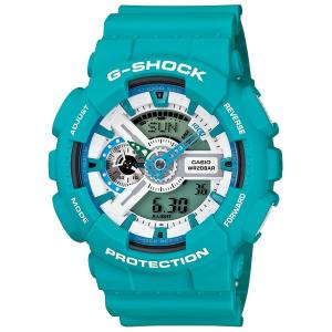 カシオ【G-SHOCK】ブリージーカラーズブルー◆GA-110SN-3ADR/GA-110SN-3AJF|mmworld