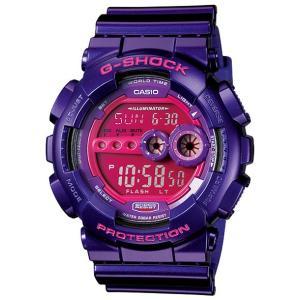 【G-SHOCK】「クレイジーカラーズ」紫◆GD-100SC-6DR/GD-100SC-6JF|mmworld
