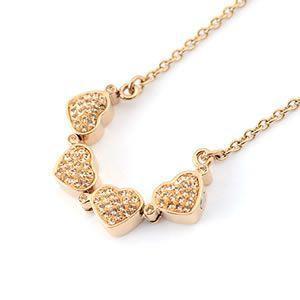 フォリフォリ  Heart4Heart Necklace ハート4ハート ネックレス  ピンクゴールド 3N0T013RS|mmworld