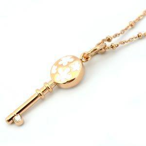 フォリフォリ  Keys Necklace キーズ ネックレス ピンクゴールド エナメル 3N1T003RCW|mmworld