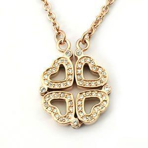 フォリフォリ  Heart4Heart Necklace ネックレス ゴールド 3N1T033RC|mmworld