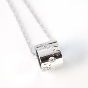 グッチ  ネックレス ホワイトゴールド×ダイヤモンド 104115-J8540-9066|mmworld