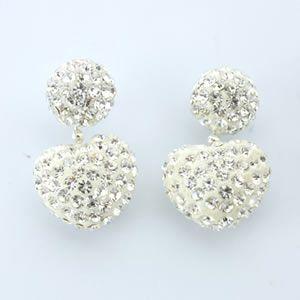 フォリフォリ  Bling Chic Earrings ハートモチーフ ピアス シルバー 3E1F012C|mmworld