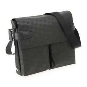 ダンヒル D-EIGHT BLACK ディーエイトライン メンズ ショルダーバッグ ナナメ掛け ブラック OW6010|mmworld