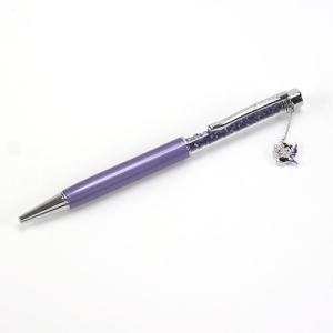 スワロフスキー Hello Kitty Purple Pearl Crystalline Kitty(キティ)チャーム☆クリスタル・ボールペン  1176334|mmworld