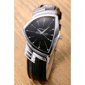 ハミルトン 腕時計 Ventura ベンチュラ ブラック/ブラックレザー H24411732|mmworld