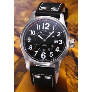 ハミルトン メンズ腕時計 Khaki Officer Auto(カーキオフィサーオート) レザー  H70615733|mmworld