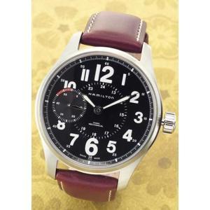 ハミルトン 腕時計 Khaki Mecha Officer (カーキ メカ オフィサー ) メンズ メカニカル レザーストラップ ウオッチ H69619533|mmworld