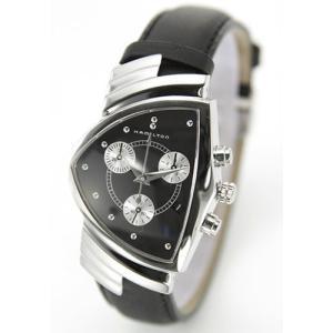 ハミルトン 腕時計 ベンチュラ クロノ クォーツ レザーストラップ ウオッチ H24412732|mmworld