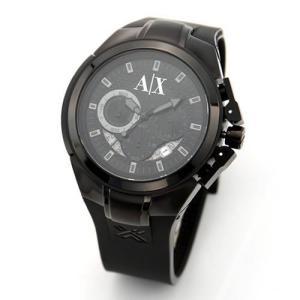 アルマーニ エクスチェンジ  メンズ・オールブラック・クロノグラフ・ラバーストラップウオッチ AX1050|mmworld