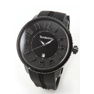 テンデンス メンズ 腕時計 Roundo Gulliver (ラウンド・ガリバー)シリーズ 超おススメ・モテ系オールブラック 02033010AA|mmworld
