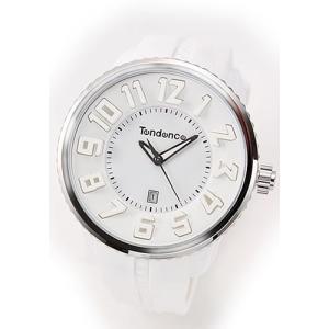 テンデンス メンズ 腕時計 Roundo Gulliver (ラウンド・ガリバー)シリーズ 超おススメ・モテ系ホワイト 02033013AA|mmworld