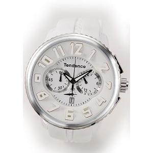 テンデンス メンズ 腕時計 Roundo Gulliver Chrono(ラウンド・ガリバー・クロノ)シリーズ 超おススメ・モテ系ホワイト クロノグラフ 02036013AA|mmworld