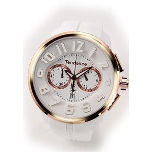 テンデンス メンズ 腕時計 Roundo Gulliver Chrono(ラウンド・ガリバー・クロノ)シリーズ 超おススメ・モテ系ホワイト クロノグラフ 02046014|mmworld