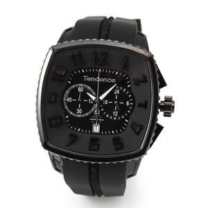 テンデンス メンズ 腕時計 Square Gulliver Chronograph (スクエアガリバークロノグラフ) モテ系オールブラック クロノグラフ 02086005|mmworld