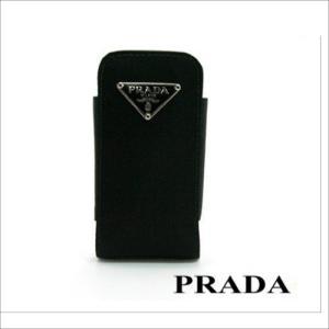 1M02222B6F0T97 PRADA 携帯用ケース ブラック系 三角プレート 1M02222B6F0T97|mnet
