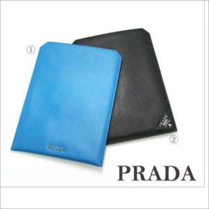 PRADA 2ARI08 タブレット iPadカバー ユニセックス iPadmini対応 お祝い 就職祝い 男女兼用 プラダ サフィアーノ|mnet