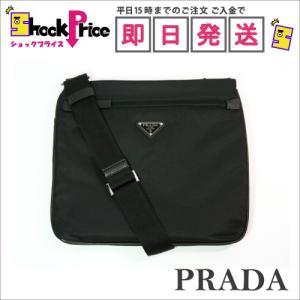 PRADA 2VH563 ショルダーバッグ 斜め掛け メンズ ブラック系 ナイロン/レザー クロスボディバッグ|mnet