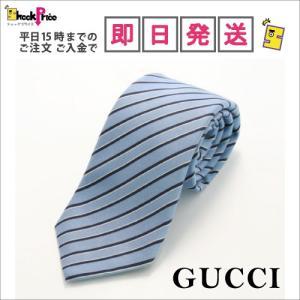 GUCCI 320375 ライン柄ネクタイ ブルー系 / 972|mnet