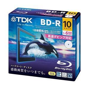 BRV25PWC10A TDK 録画用ブルーレイディスク BD-R 25GB 1-6倍速 BRV25PWC10A|mnet