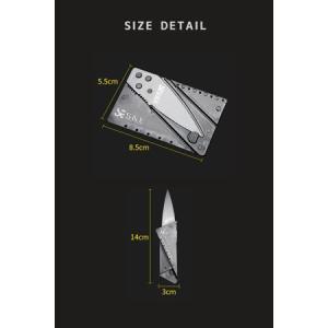 カード ナイフ マルチツール アウトドア 折り畳み 携帯 コンパクト キャンプ 釣り 登山 カード型 多機能 変形|mnet|06