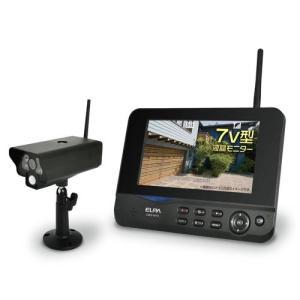 ELPA ワイヤレス防犯カメラ&モニターセット CMS-7001|mnet