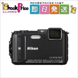 AW130 Nikon COOLPIX デジタルカメラ ブラック COOLPIX AW130 BK|mnet